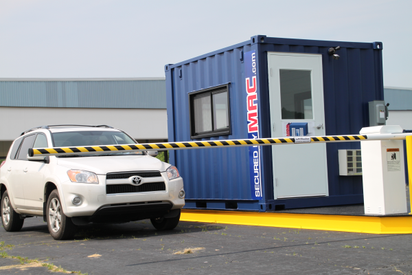 MSSI,vehicle access control,vehicle access control portal,Modular Security Systems Inc,vehicle barrier arms in a guard house,vehicle barrier gate,portable vehicle barrier arms,vehicle access control with a guard office