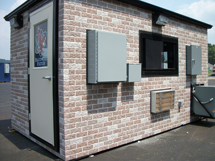 Guardhouse without turnstiles, access control guard shack without turnstiles, Guard Office
