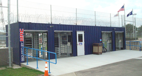 Modular Access control (MAC) Portal, Portable guardhouse with turnstiles, access control turnstiles