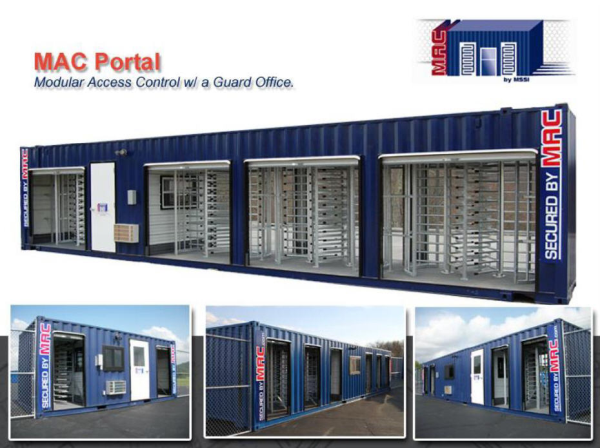 MSSI, Turnstiles in a container, Turnstiles, turnstiles, Modular Security Systems Inc, MAC Portal, modular security systems inc, Turnstile, turnstile, turnstile security, perimeter security, perimeter security solution, access control