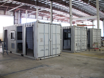 MAC Portal, turnstiles, turnstile, iso shipping container, turnstiles in a container
