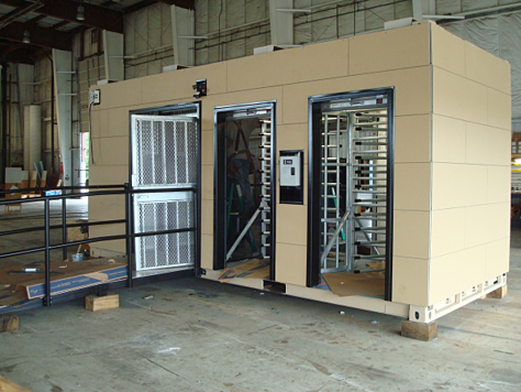 turnstiles, turnstile, turnstiles in a container, turnstiles with ada gate