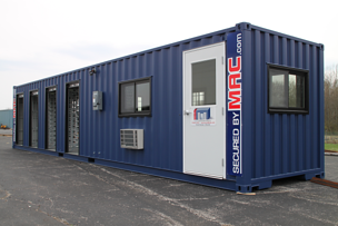MSSI,guardhouse with access control turnstiles,guard shack with turnstiles,perimeter security solution,pre fabricated guard house,pre fabricated guard booth,Modular Security Systems Inc,perimeter barrier,guard office with turnstiles