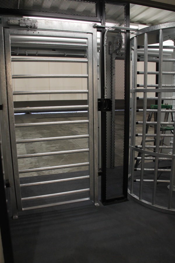 turnstiles and ada gates, mac portal with ada gate, ada gate in a mac portal