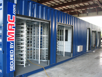 Turnstiles in Guard Shack, Access Control Turnstiles, portable access control point