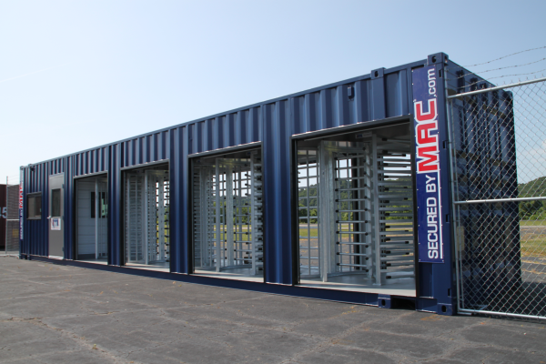 MAC Portal, MSSI, Turnstiles, Turnstiles in a container, turnstiles and guard house