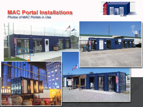 Turnstiles, turnstiles, turnstile, Turnstile, turnstiles in a container, turnstiles in a conex, turnstiles and access control, Turnstiles in a container, access control, access control turnstiles, MSSI, patented MAC Portal, MAC Portal, Modular Security Systems Inc