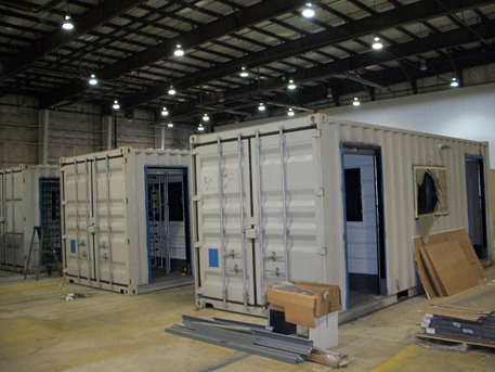 MSSI, Patented MAC Portal, container turnstiles, turnstile container, modular guard office with turnstiles