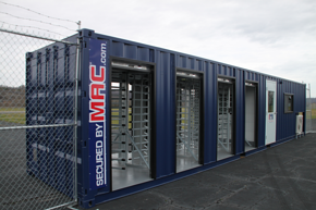 access control, turnstile in a container, mssi, modular security systems inc, turnstiles, perimeter security
