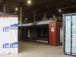 ASC, Advanced Screening Complex, container turnstile modifications