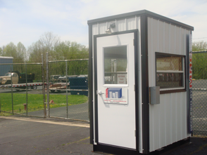 MACs on the road, turnstile security, access control turnstiles, guard shack with access control turnstiles.
