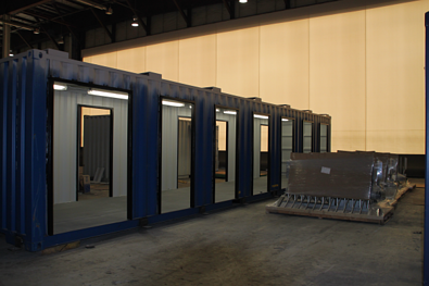 iso shipping container, turnstiles, mac portal, patented mac portal