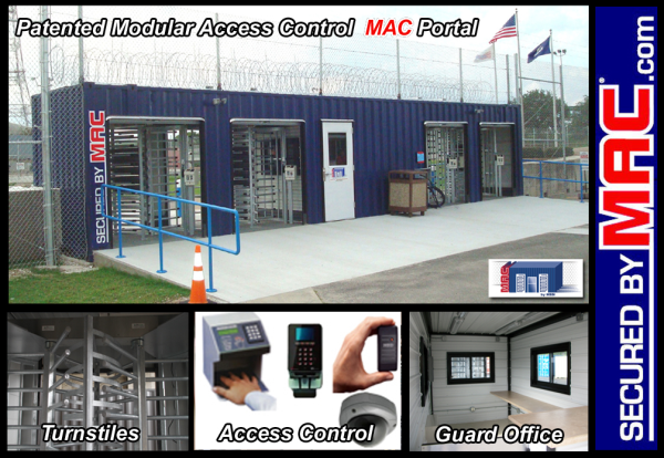 turnstile, turnstiles, Modular Security Systems Inc, MSSI, patented MAC Portal, turnstiles and access control, access control turnstiles, perimeter security solution