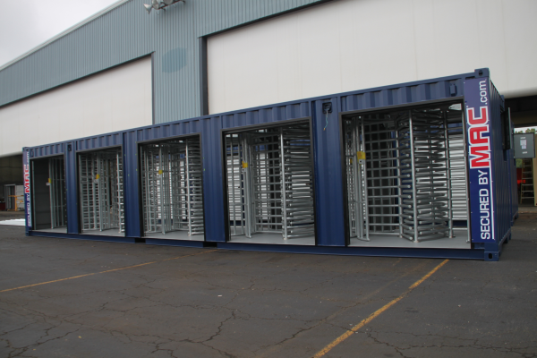 Modular Security Systems Inc, turnstiles, turnstiles in a container, turnstile, patented MAC Portal, Modular Access Control, MSSI, access control