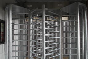 Modular Access Control, MSSI, Turnstile, Turnstiles, patented MAC Portal, access control, Modular Security Systems Inc, turnstiles in a container