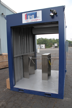 MSSI, Modular Security Systems Inc, turnstile, turnstiles, access control turnstiles, turnstiles in a container