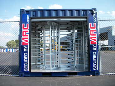 Turnstile, turnstile, turnstiles, Turnstiles, turnstile security, turnstile conex, turnstiles and access control, turnstiles in a container, Modular Security Systems Inc, patented MAC Portal, MSSI