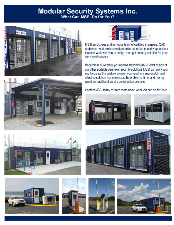 turnstile, Turnstiles, vehicle barrier gate, MSSI, Modular Security Systems Inc, portable perimeter security, access control