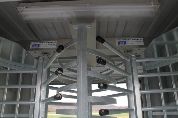 MSSI,turnstile,turnstiles,patented MAC Portal,Modular Security Systems Inc,Turnstiles in a container