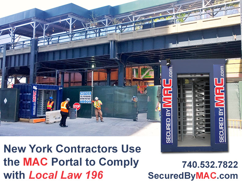 MSSI, patented MAC Portal, Modular Security Systems Inc, Local Law 196, NYC Local Law 196
