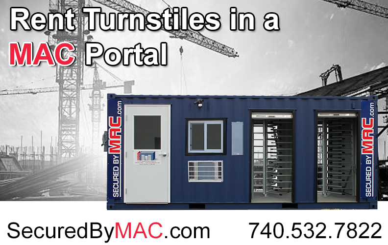 MSSI, MAC Portal, patented MAC Portal, Modular Security Systems Inc, turnstiles with access control