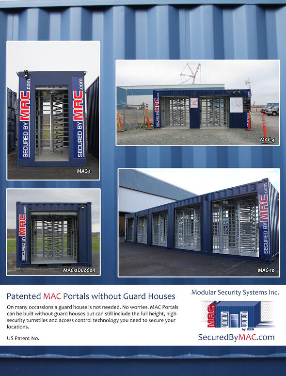 Modular Access Control, MSSI, turnstile security, security turnstile, Turnstile, Turnstiles, patented MAC Portal, access control, Modular Security Systems Inc, access control turnstiles, turnstiles and access control