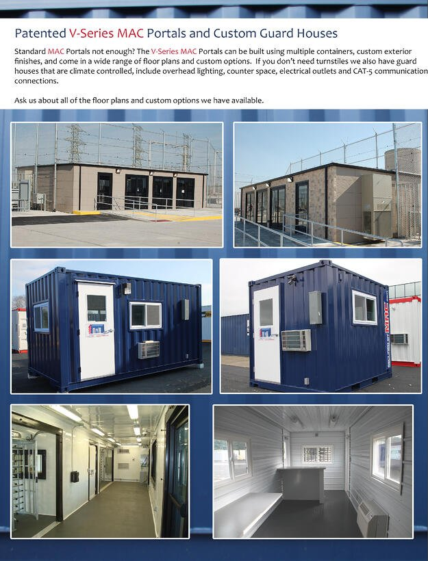 Modular Access Control, MSSI, portable guard booth, modular guard booth, guard house, guard shack with turnstiles, Modular Security Systems Inc, guard office with turnstiles, portable guard house, guard shack