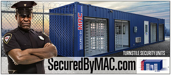 Modular Access Control, MSSI, turnstile security, perimeter security, security turnstile, Turnstile, Turnstiles, patented MAC Portal, access control, Modular Security Systems Inc, turnstile rental