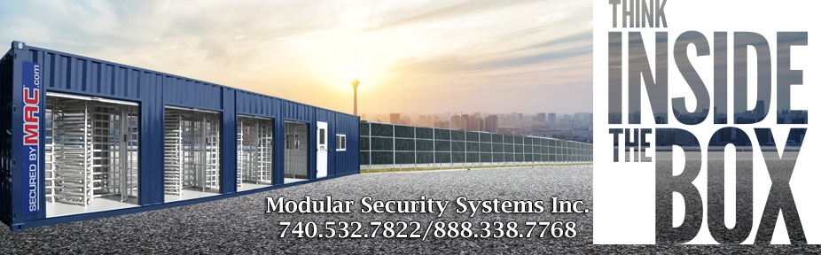 Modular Security Systems Inc., MSSI, securedbymac.com, securedbymac, mac portal, patented mac portal, turnstiles, turnstile, turnstile in a container, turnstiles in a container, turnstiles in a guard house, turnstiles in a guard office, security turnstiles