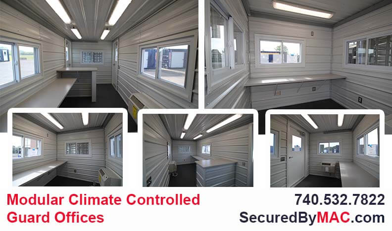 MSSI, guardhouse with access control turnstiles, Modular Security Systems Inc, portable guard shack, guard house with access control, portable guard office, perimeter guard house