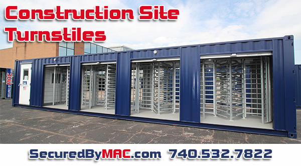 Construction site turnstile cost, construction site turnstile price, construction site turnstile pricing, MSSI, Modular Security Systems Inc