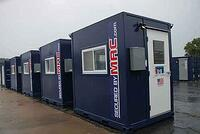 Ground level guard office, portable guard booth, modular guard house