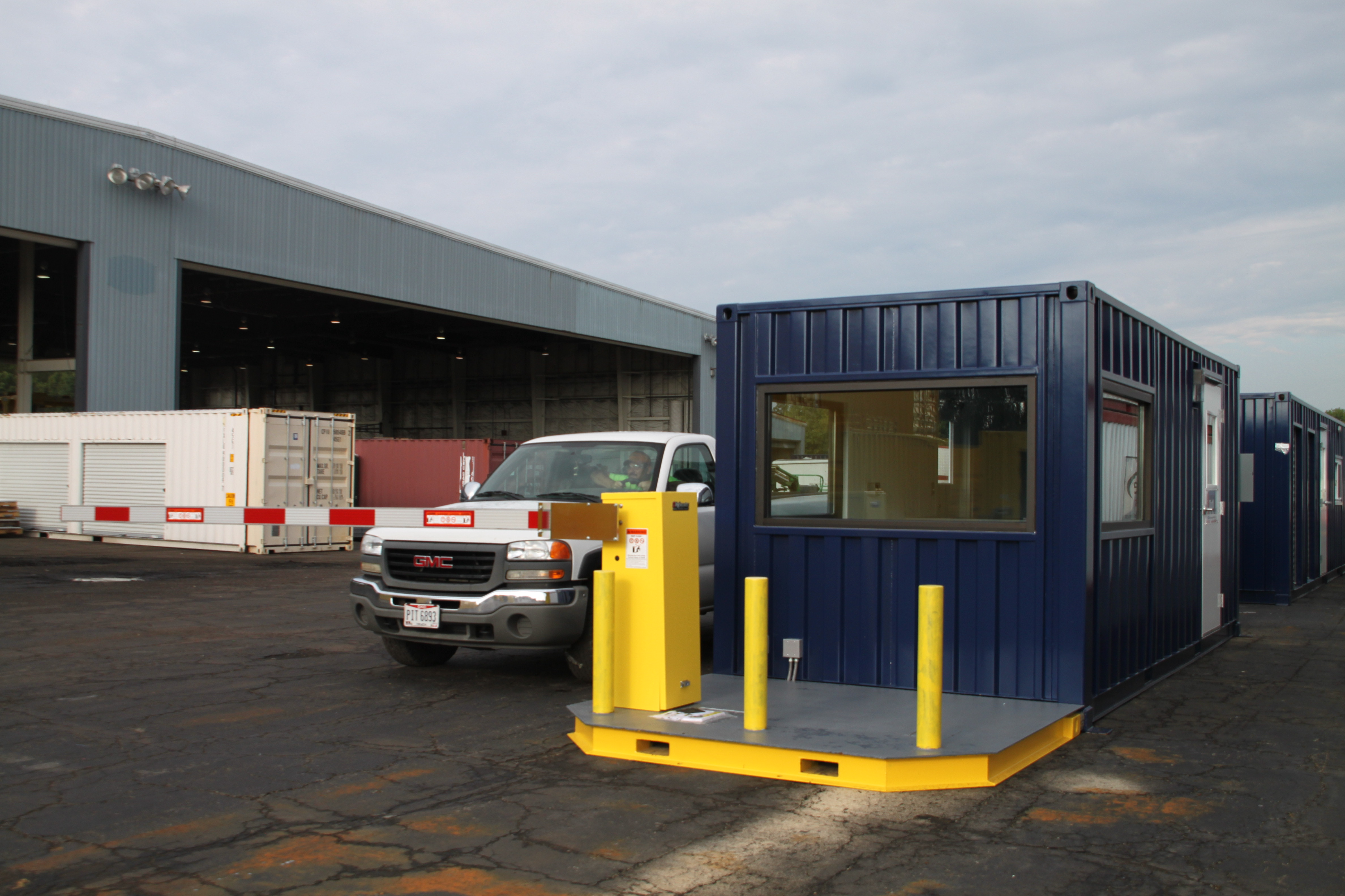 MSSI, Modular Security Systems Inc, vehicle access control, modular vehicle access control, modular guard booth with vehicle barrier arms, vehicle access control portal, modular vehicle access control portal, portable vehicle access control, vehicle barrier arms, portable vehicle barrier arms, vehicle access control with a guard office, vehicle barrier arms in a guard house, vehicle barrier gate