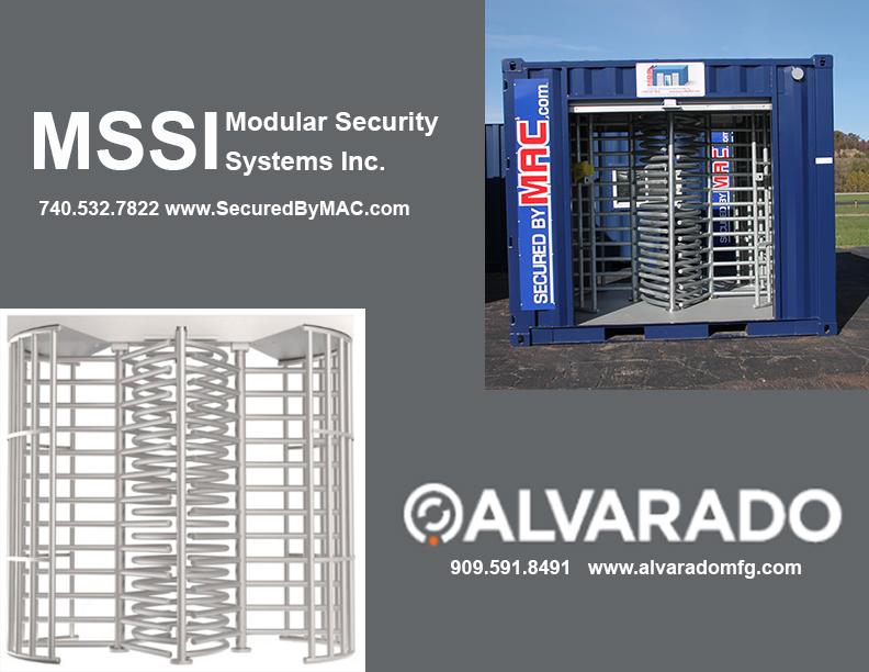 MSSI, Turnstile, Turnstiles, Modular Security Systems Inc, patented Modular Access Control MAC Portal, Alvarado Turnstiles, Alvarado