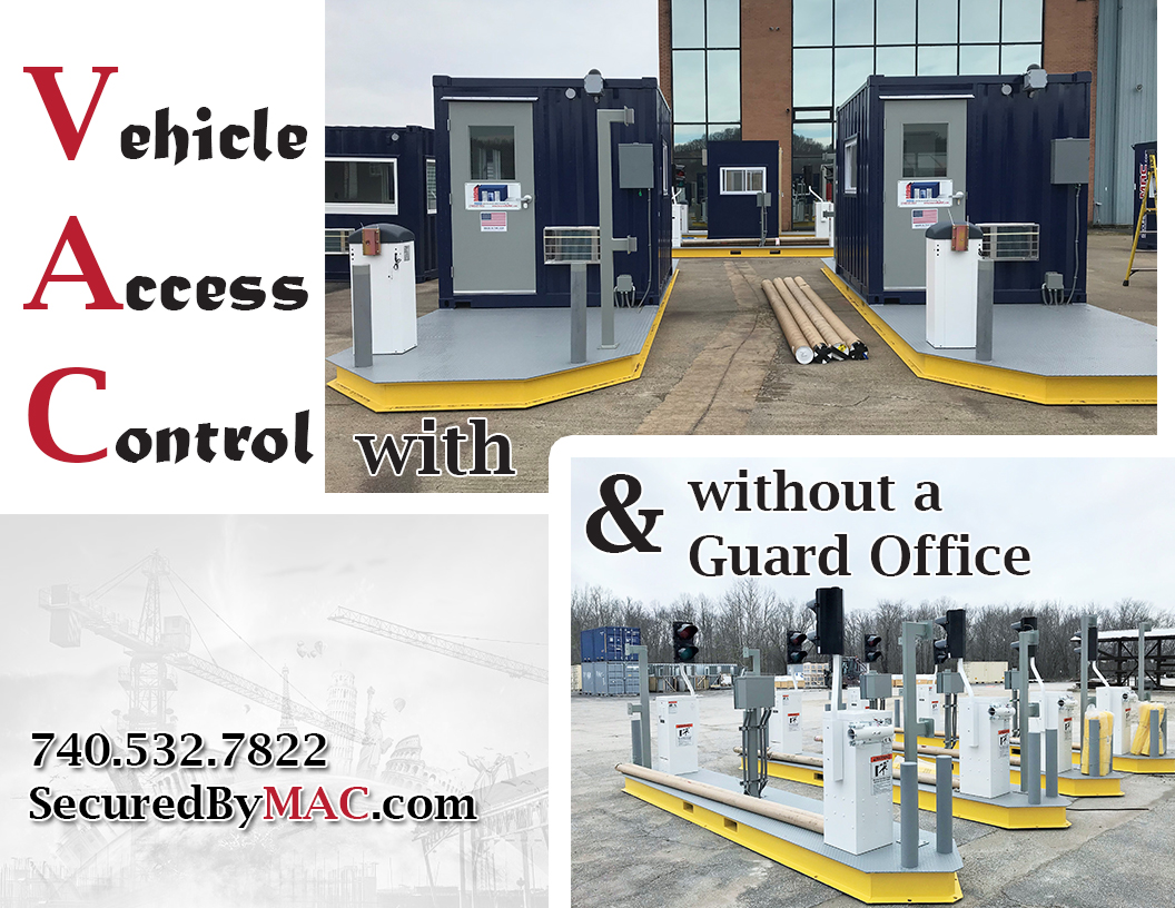vehicle access control portal, vehicle access control with a guard office, modular vehicle access control portal, vehicle access control, modular vehicle access control, portable vehicle access control, Modular Security Systems Inc, MSSI