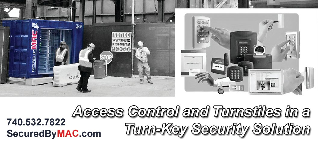 Modular Access Control, MSSI, guardhouse with access control turnstiles, access control, Modular Security Systems Inc, turnstiles and access control, access control in a guard house