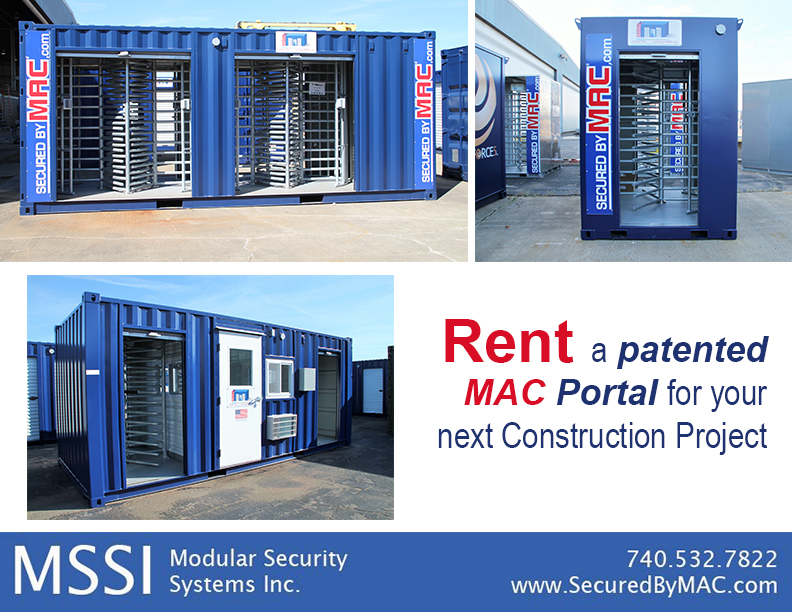 MSSI, patented MAC Portal, Modular Security Systems Inc, turnstile rental, rent turnstiles, MAC Portal Rental, MSSI Rental Program, rent MAC Portals, patented Modular Access Control MAC Portal