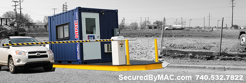 vehicle access control, modular vehicle access control, modular vehicle access control portal, vehicle gate