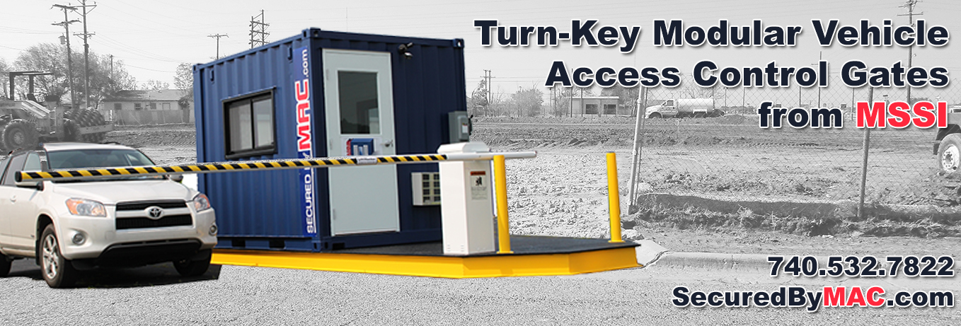 MSSI, Modular Security Systems Inc, vehicle access control, modular vehicle access control, vehicle access control portal, modular vehicle access control portal, vehicle gates
