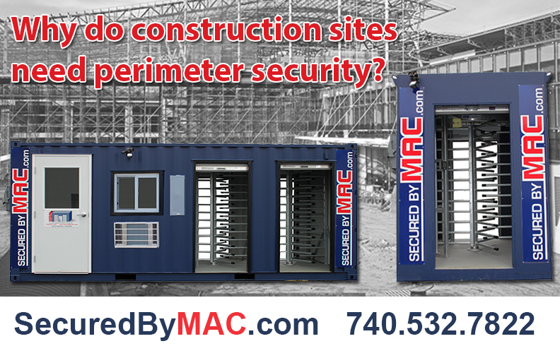 MSSI, Turnstile, Modular Security Systems Inc, commercial construction security, construction site security, perimeter security construction site, construction site perimeter security, perimeter security for construction sites