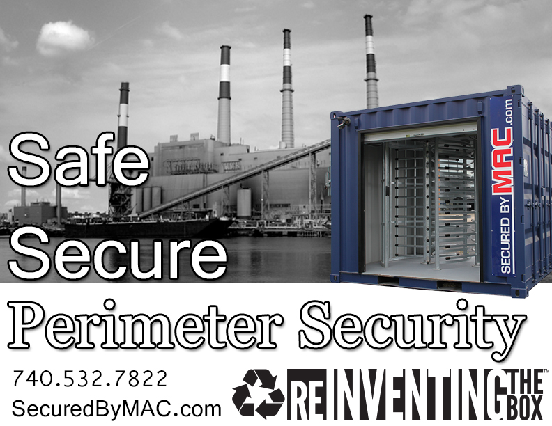 MSSI, portable turnstiles, portable turnstile, turnstile in a shipping container, turnstile security in a container, turnstile security in containers, perimeter turnstile
