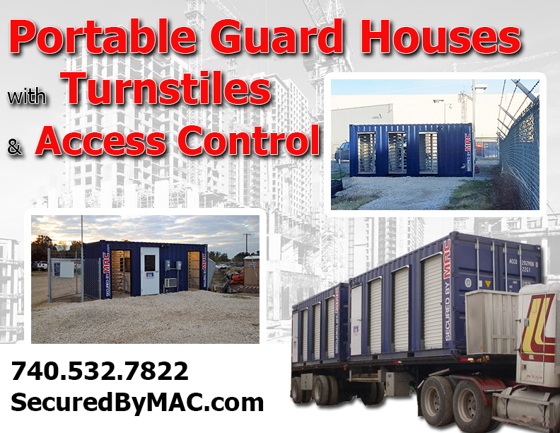 MSSI, turnstiles in a guard house, Modular Security Systems Inc, guard house with access control, guard house with turnstiles, access control in a guard house, portable guard house with turnstiles