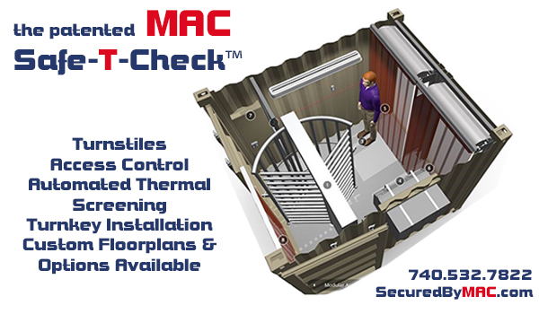 turnstiles, thermal screening, access control, MSSI, MAC Safe-T-Check