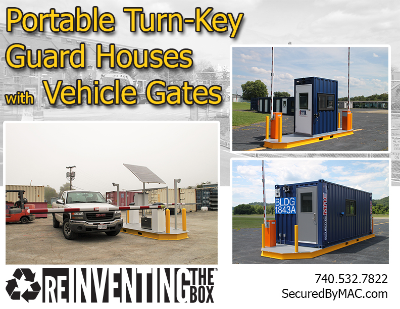 MSSI, Modular Security Systems Inc, vehicle access control, portable vehicle access control, vehicle barrier gate, vehicle gate, guard house with vehicle gate, vehicle gate with guard house, guard office with vehicle gate