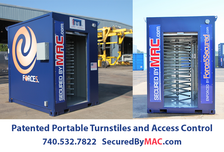 Modular Access Control, MSSI, Turnstile, Turnstiles, patented MAC Portal, Modular Security Systems Inc, Force5, Force5 Security