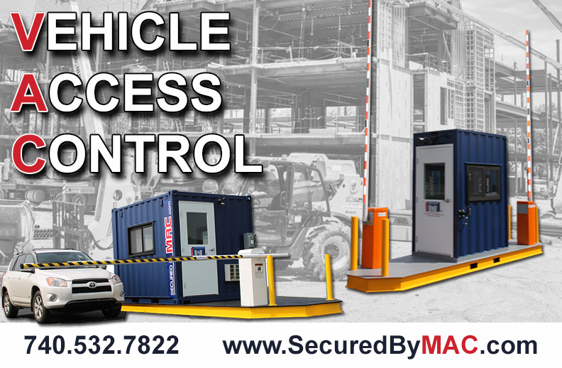MSSI, Modular Security Systems Inc, vehicle access control, modular vehicle access control, vehicle access control portal, portable vehicle access control, vehicle gate, guard house with vehicle gate, vehicle gate with guard house