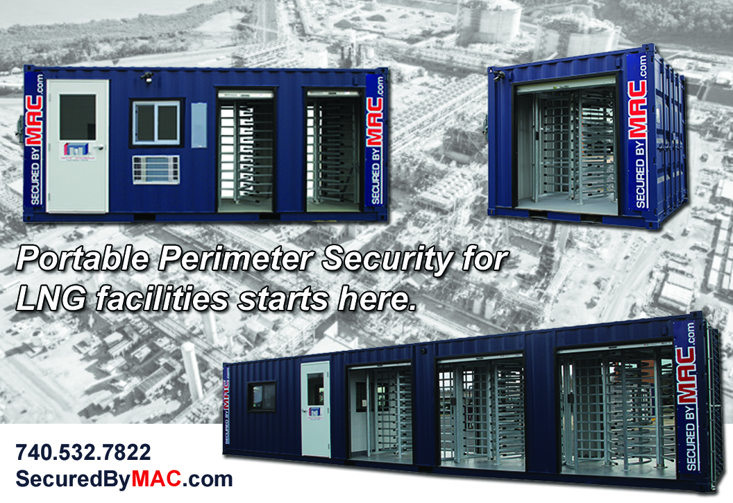 MSSI, Modular Security Systems Inc, portable perimeter security, perimeter turnstile, perimeter security for LNG projects, perimeter security for LNG industry, perimeter security on LNG projects