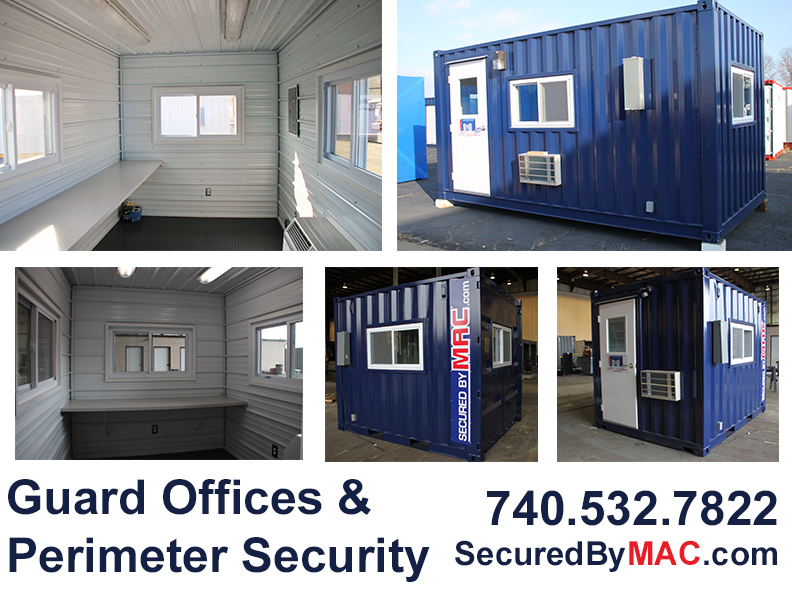 MSSI, pre fabricated guard booth, Modular Security Systems Inc, ground level guard office, portable climate controlled guard booth, portable guard office, guard office