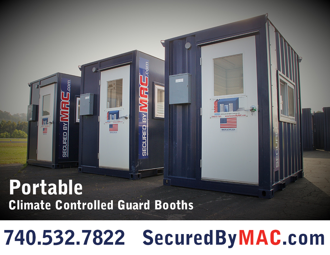 MSSI, Modular Security Systems Inc, portable guard shack, access control in a guard house, portable climate controlled guard booth, portable guard office, guard office