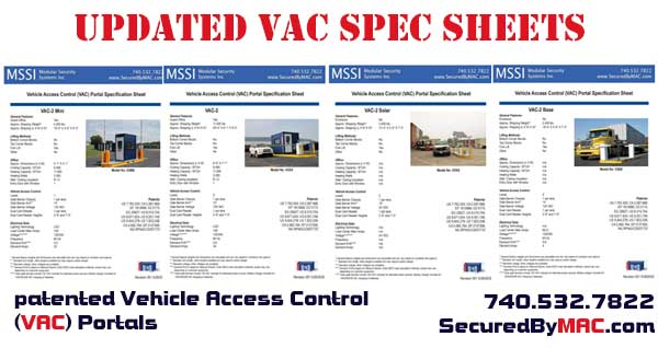 Vehicle Access Control VAC Portal with a guard house